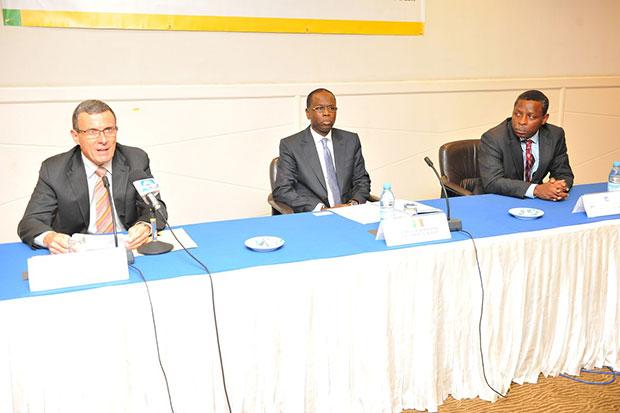 Jean Le DEM, DG AFRITAC, avec le minister du BUDGET et du Reprèsentant du FMI