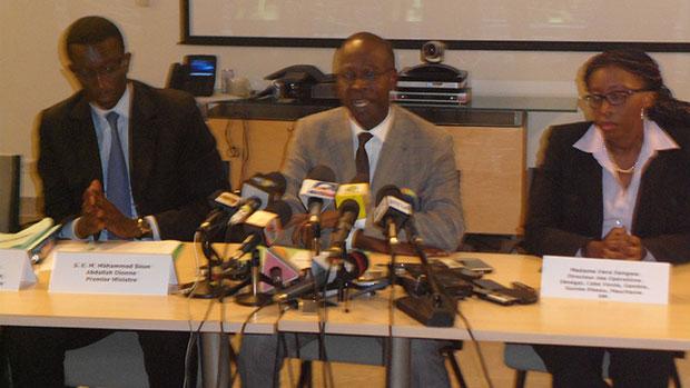 Le premier ministre du Sénégal Mohamed Ben Abdallah Dionne lors de la présentation du Doing Business 2015