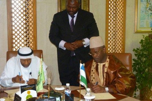Dr Ahmad Mohamad Ali (BID) et Alhaji MS Kargbo (Sierra Leone)