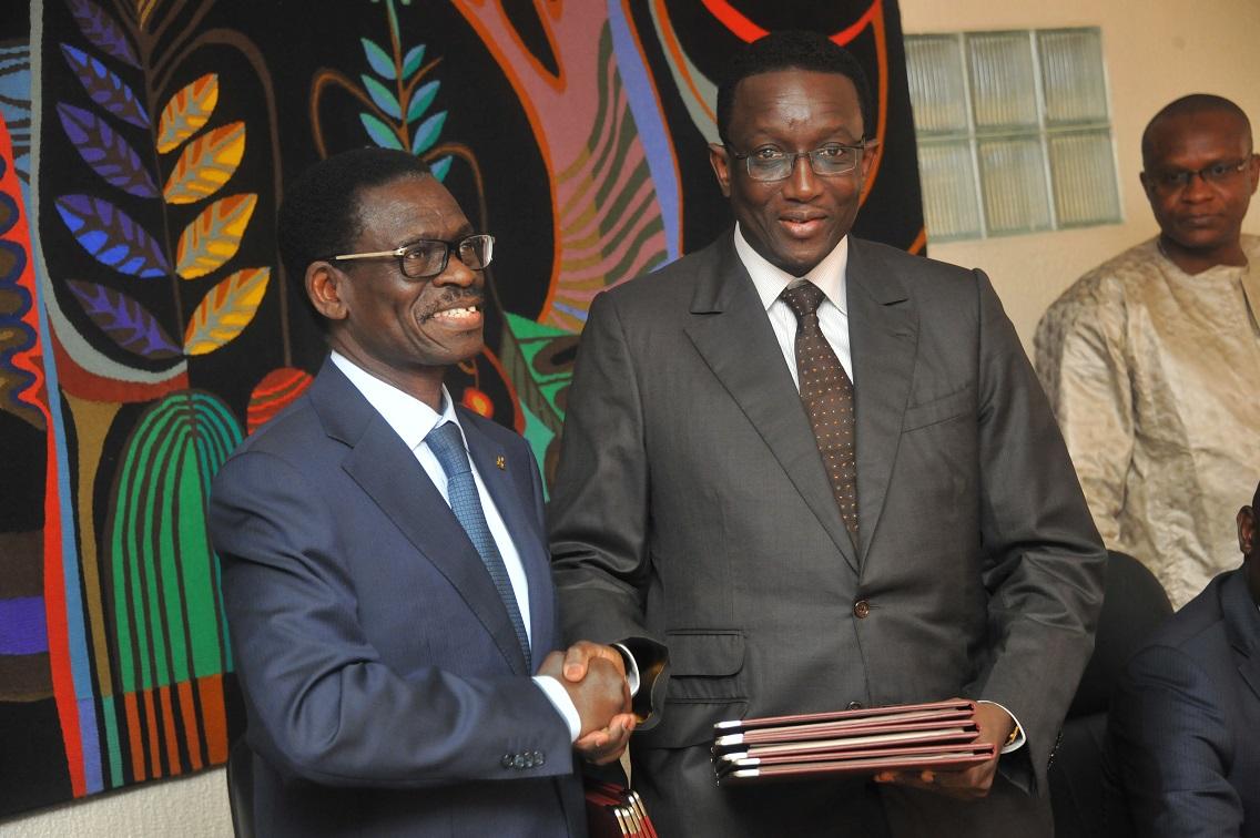 Christian ADOVELANDE, Président de la BOAD et Amadou BA, Ministre sénégalais de l'économie