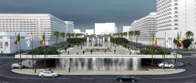 La place de l'Indépendance selon le Maire de Dakar: avec son parking sous-terrain