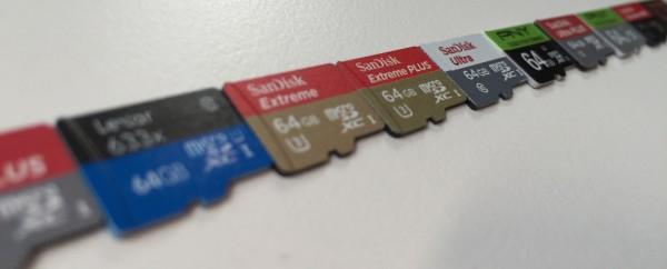 microSD line-up