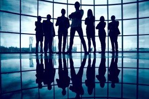 silhouette team of people - Top 7 Reasons to Use a Managed Security Services Provider