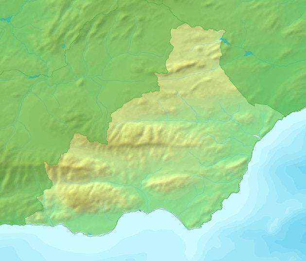Mapa del tiempo en Almería