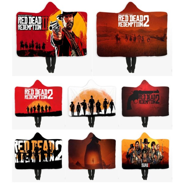 Red Dead Redemption 2 Hooded Blankets