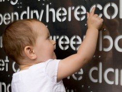 Maren Playing With The Word Wall