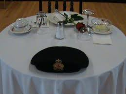 The Empty Table. Table of Honour to Remember Fallen Comrades |  SaultOnline.com