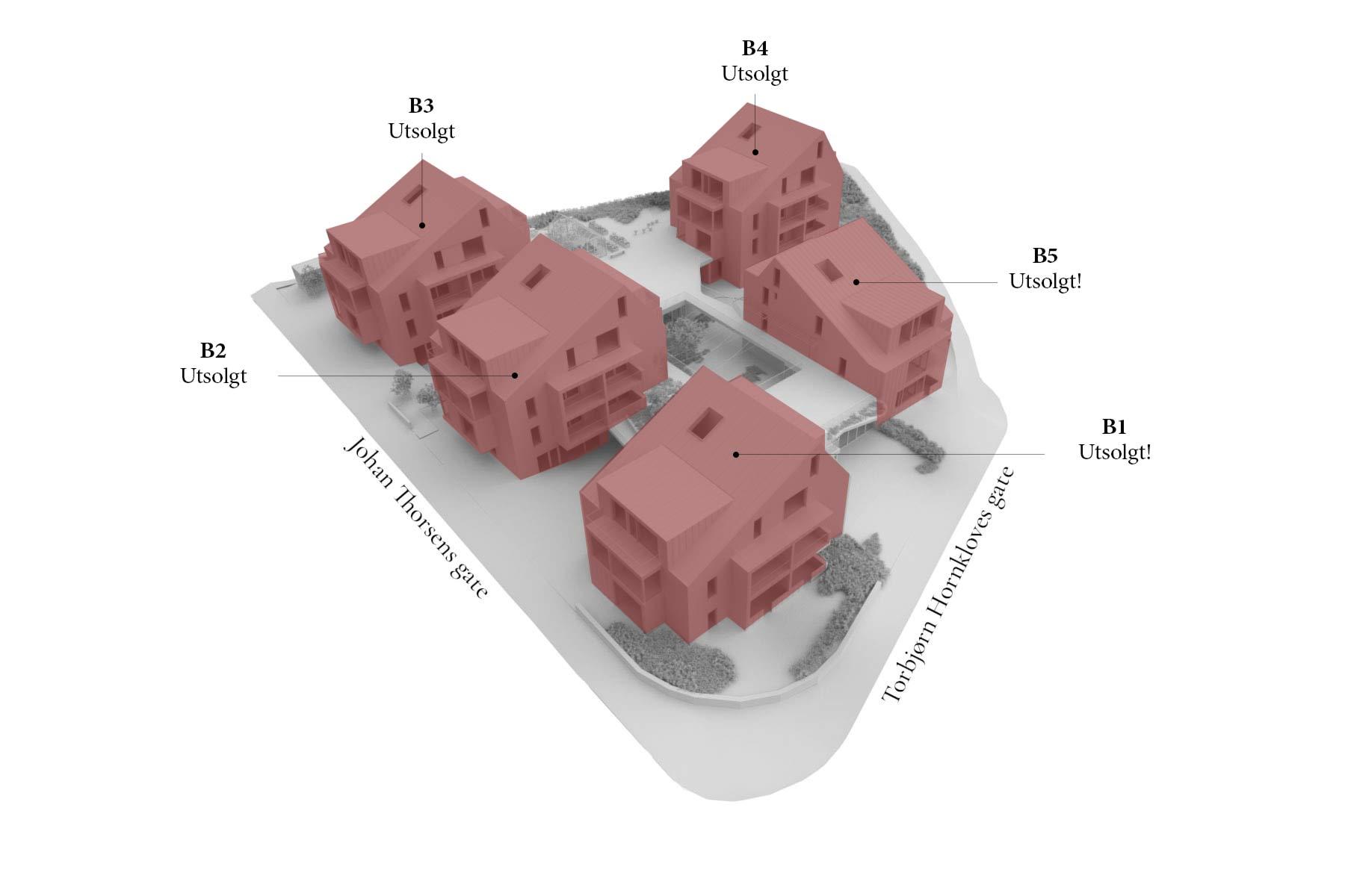 3D-illustrasjon av utsolgte Vålandstun