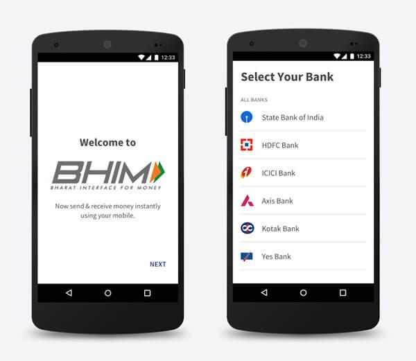 bhim upi app money transfer