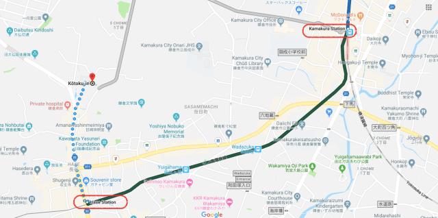 kamakura map japan