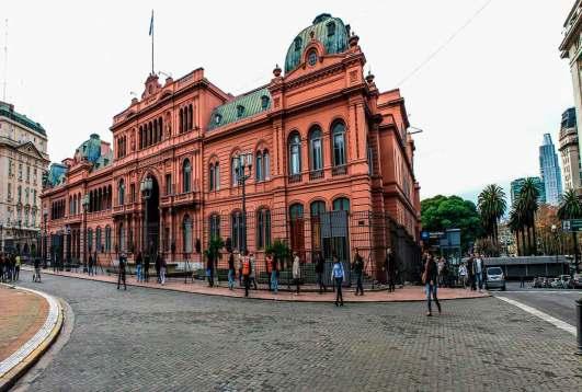 Casa rosada en Buenos Aires, Argentina