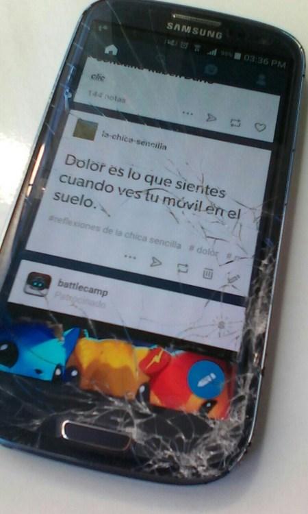 rotura de pantalla de móvil