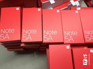 Empaquetado del Xiaomi Redmi Note 5A