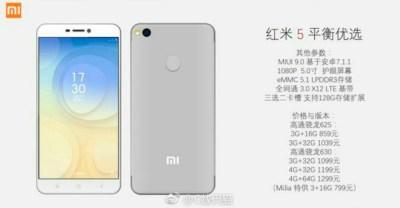 ¿Será este el nuevo Xiaomi Redmi 5?