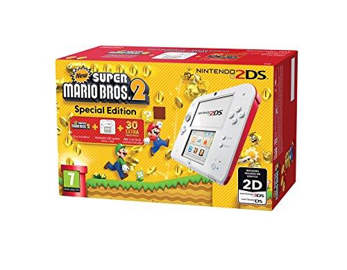 Nintendo 2DS (roja y blanca) + New Super Mario Bros 2