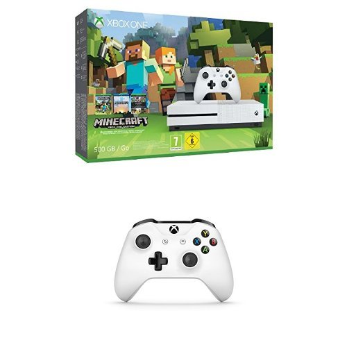 Xbox One - Pack Consola S 500 GB: Minecraft + Mando inalámbrico extra