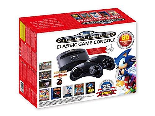 AT-Games - Consola Retro Mega Drive Wireless, Edición Sonic 25 Aniversario