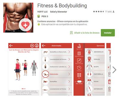 aplicaciones de bodybuilding