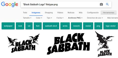Buscar imagenes concretas con Google