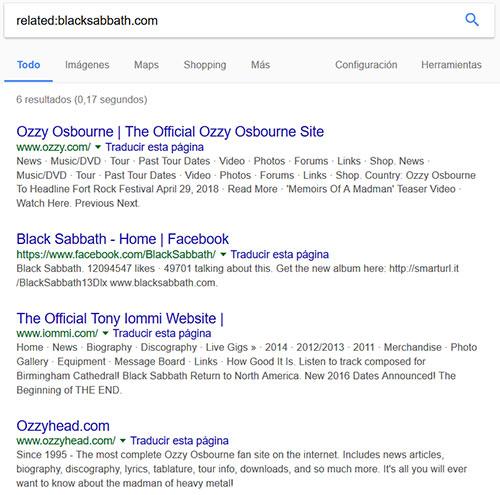 Investigar links sitio