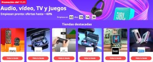 Ofertas audio, tv juegos 11 del 11 en AliExpress