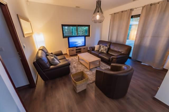le salon de la villa de luxe en location au cap d'agde
