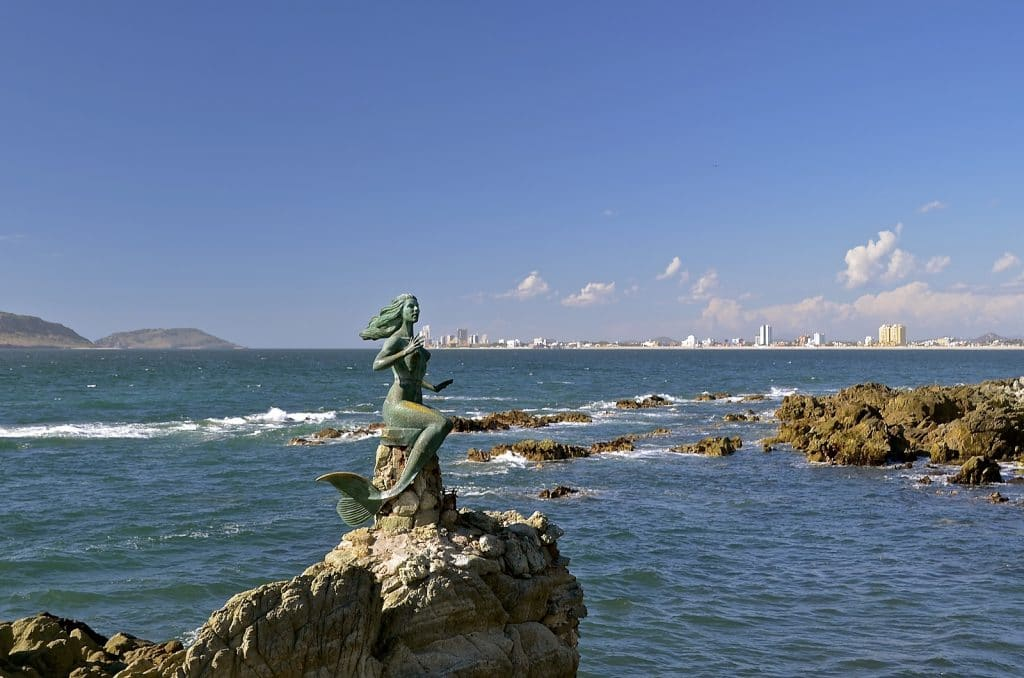 Mermaid statue at Malacon