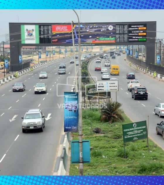 LED Gantry Billboard, Oworonshoki, Third Mainland Bridge, Lagos