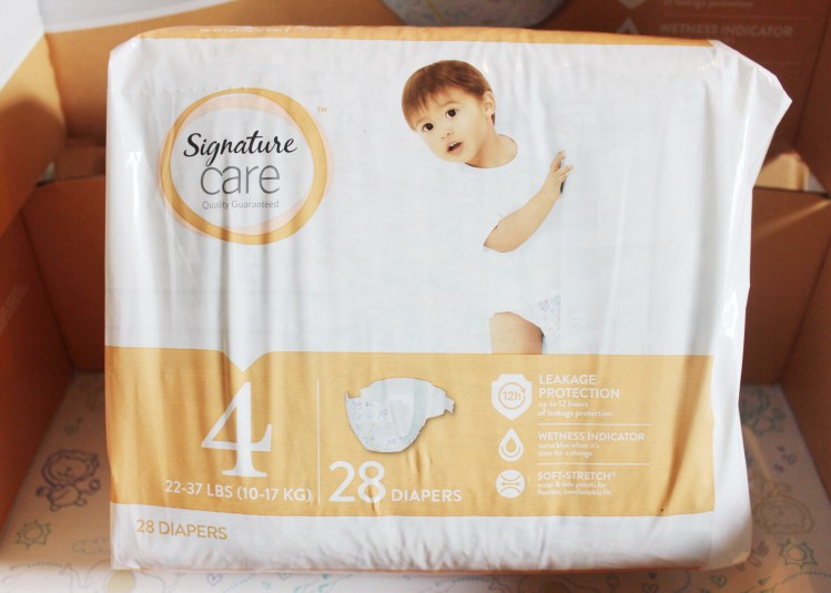 Saving with Signature Care Diapers