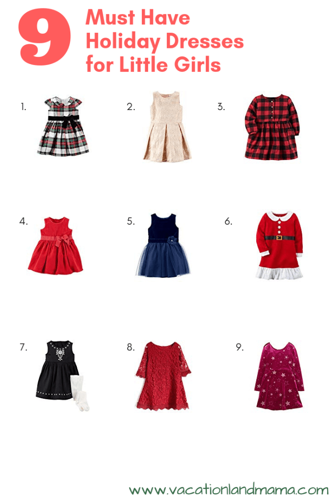 9 Must Have Holiday Dresses for Little Girls