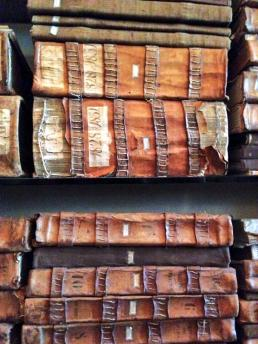 The large collections of filze, handmade books