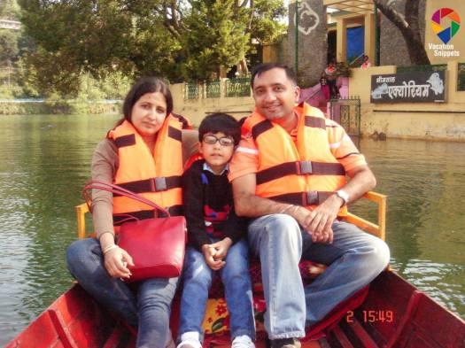 Boating at Bhimtal, Uttarakhand