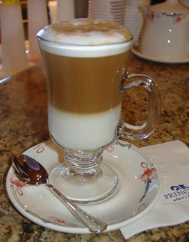 Coffee bar on the Caribbean Princess-coffee Atrium