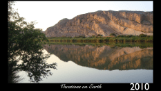 The Orange River reflecting the mountains of South Africa