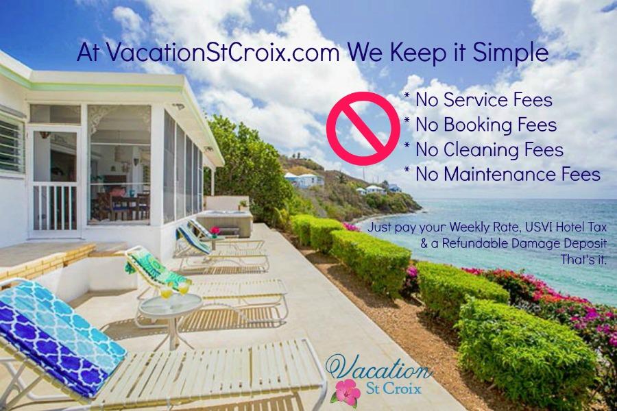 St Croix Vacation villa rentals no hidden fees