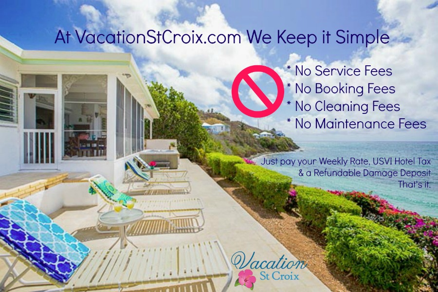 St Croix Vacation villa rentals no hidden fees