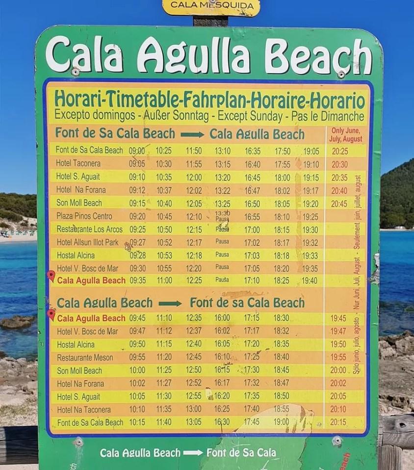 cala agulla beach pociag