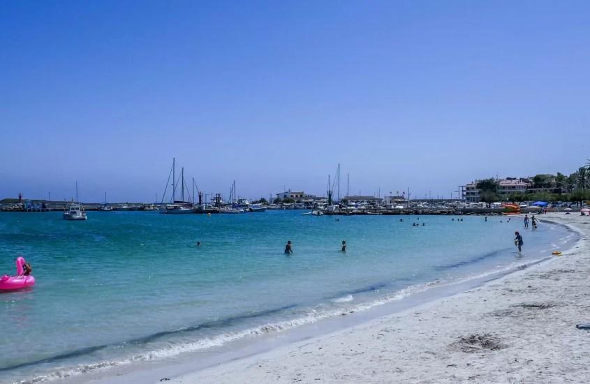 Es Port beach – a nice beach on the south side of the island.