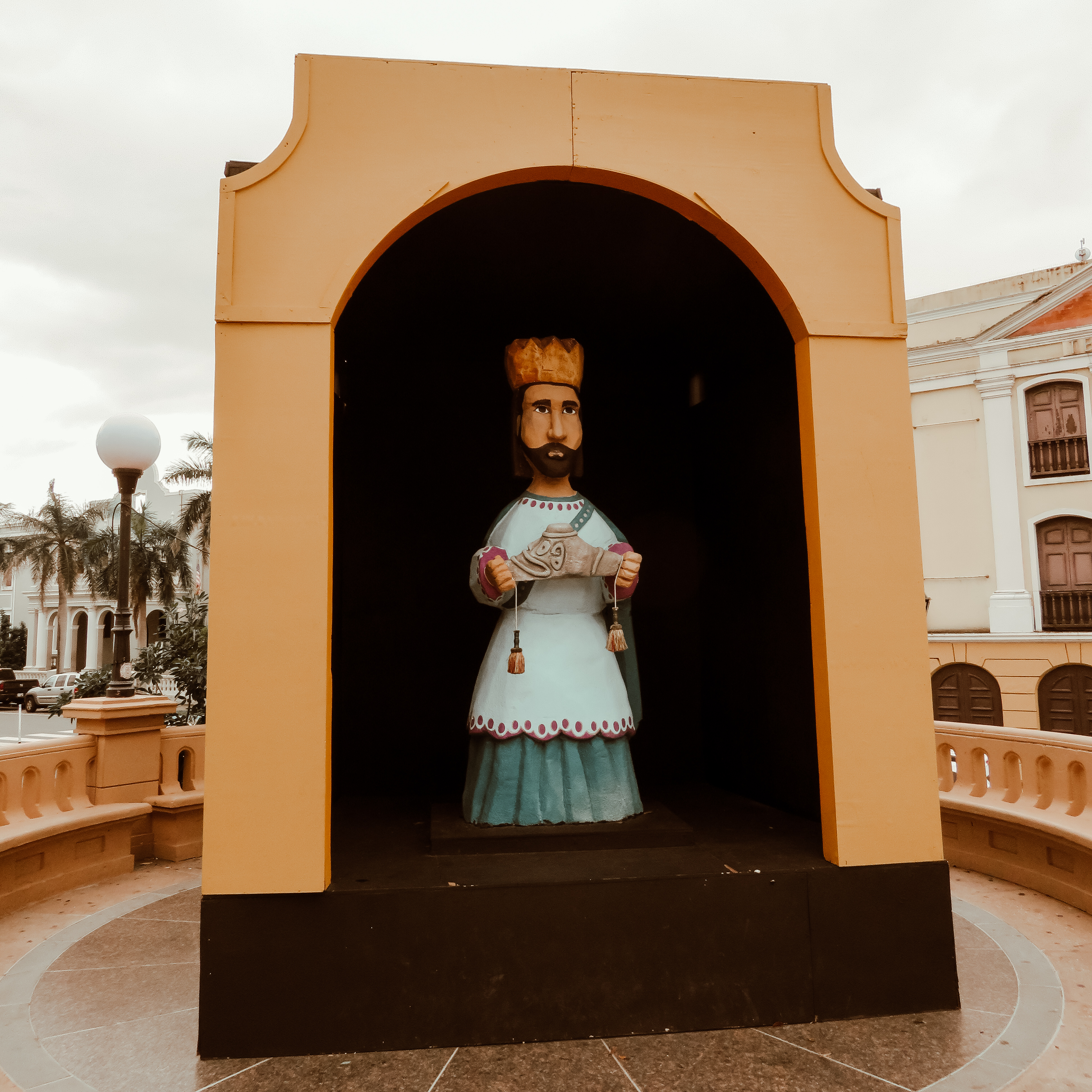 Three Kings Day statue in Puerto Rico