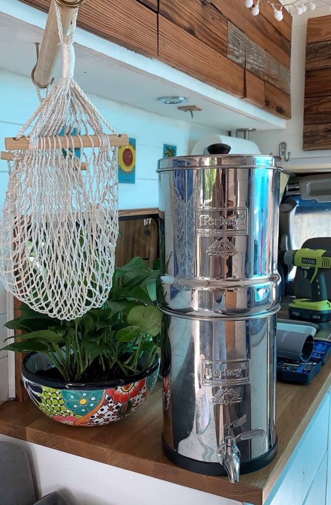 berkey travel water filter van life rv camper van
