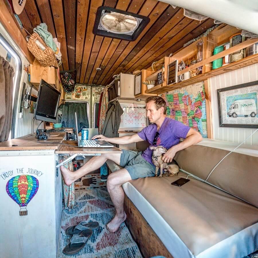 Sprinter camper van renovation solo vanlife
