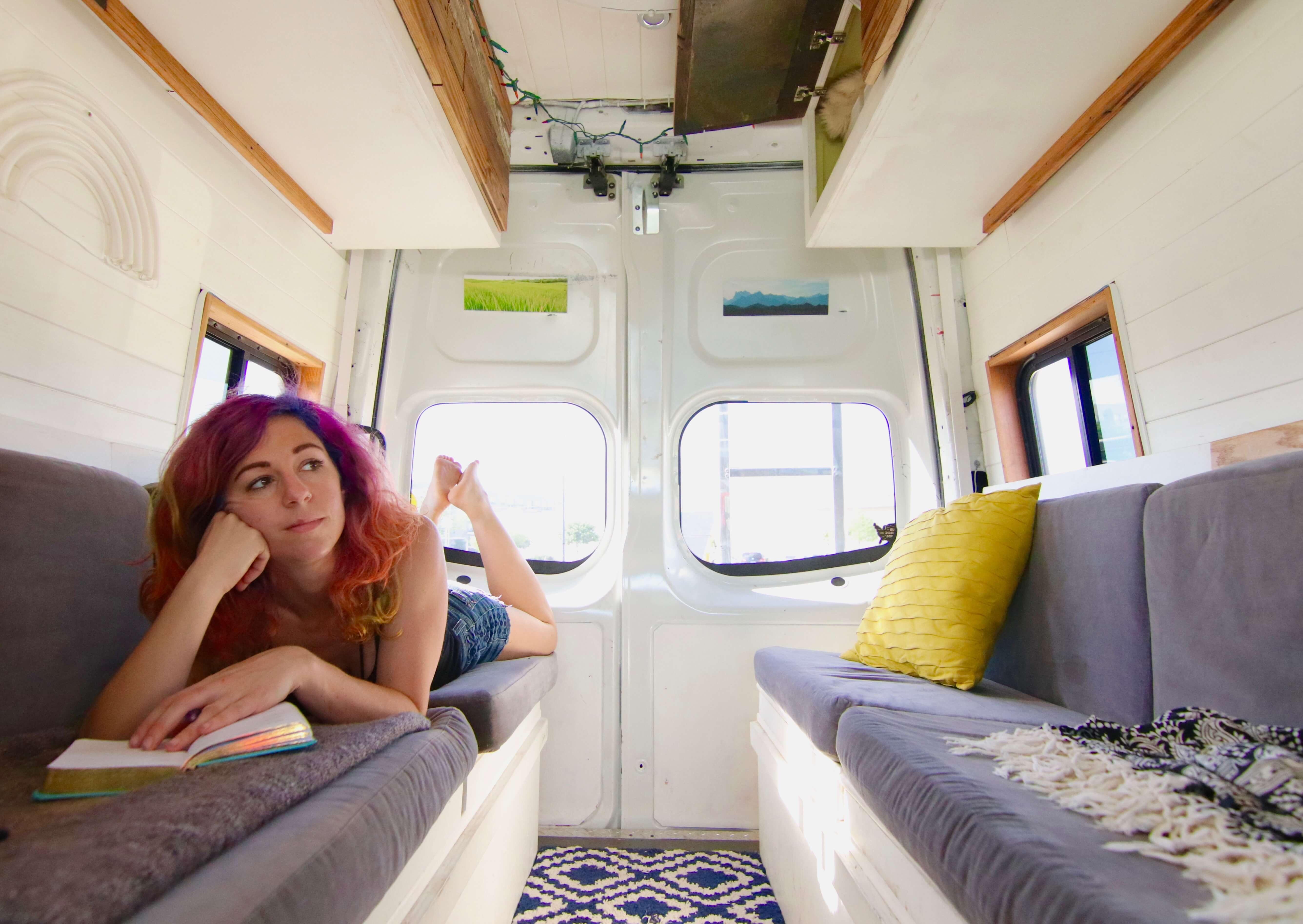 vanlife travel solo female blog instagram blogger vlog vacay vans