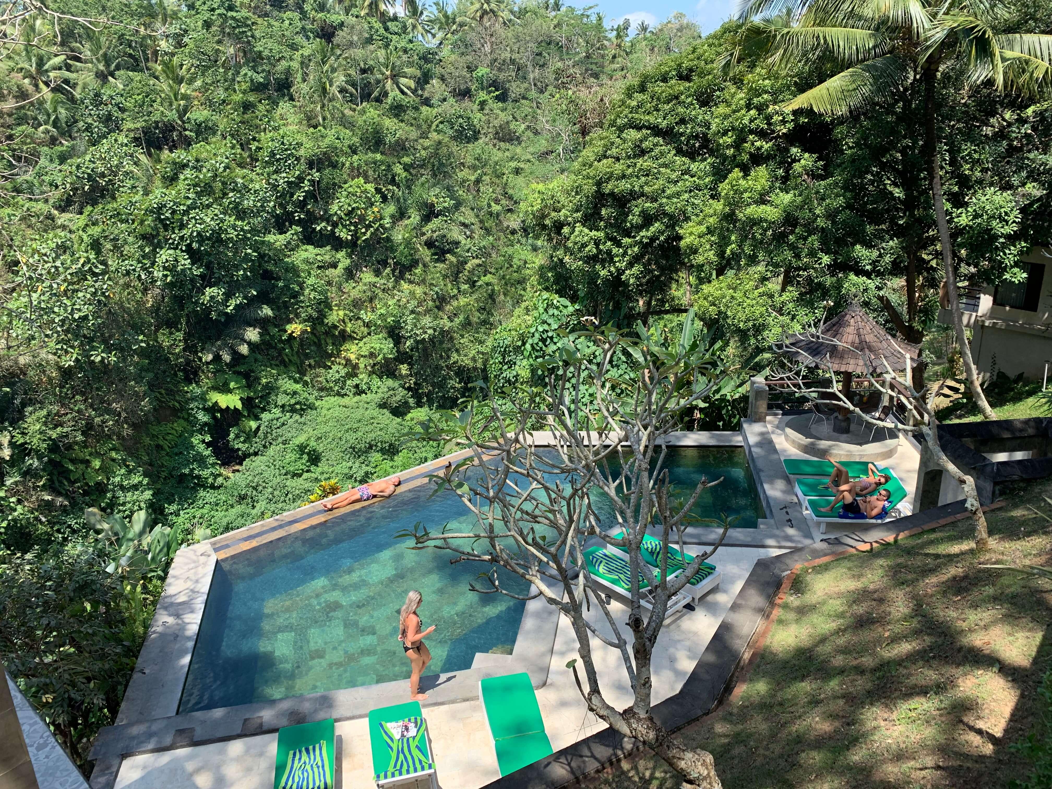 Beji Resort Ubud PukuCamper infinity pool Bali best