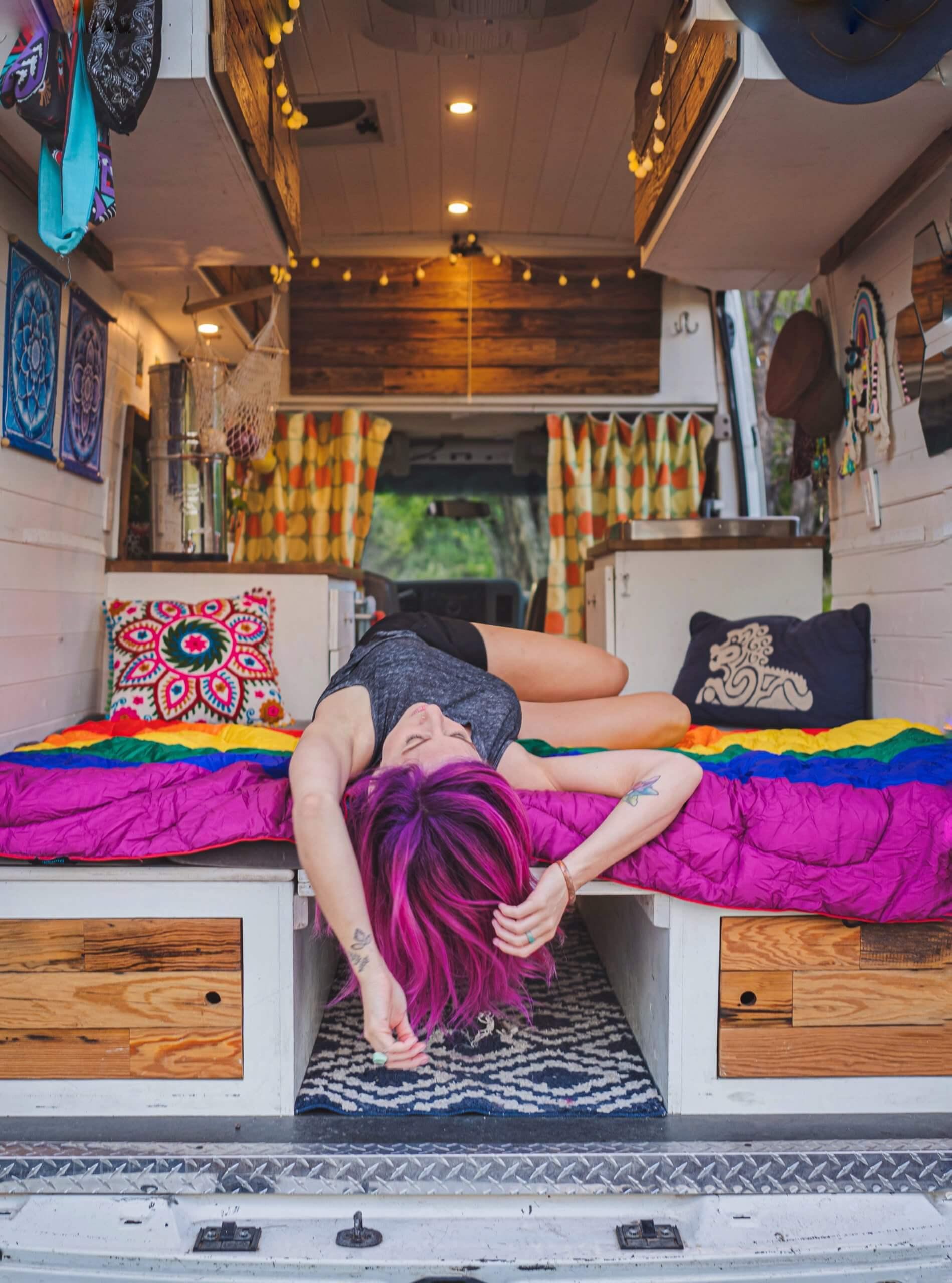 Lisa Jacobs van life vacay vans DIY camper van