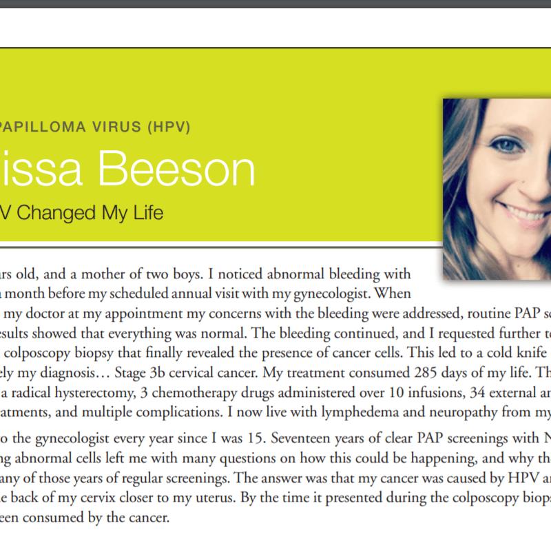 Survivor Story - Melissa