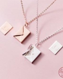 Custom printable envelope necklace