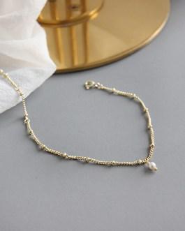 Gold pearl bracelet - S925