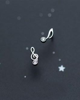 Music Note Earrings - S925