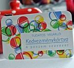 Tudatos Vásárlók Egyesületének kedvezménykártyája-vágott