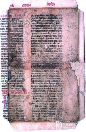 Gutenberg töredék Vácott